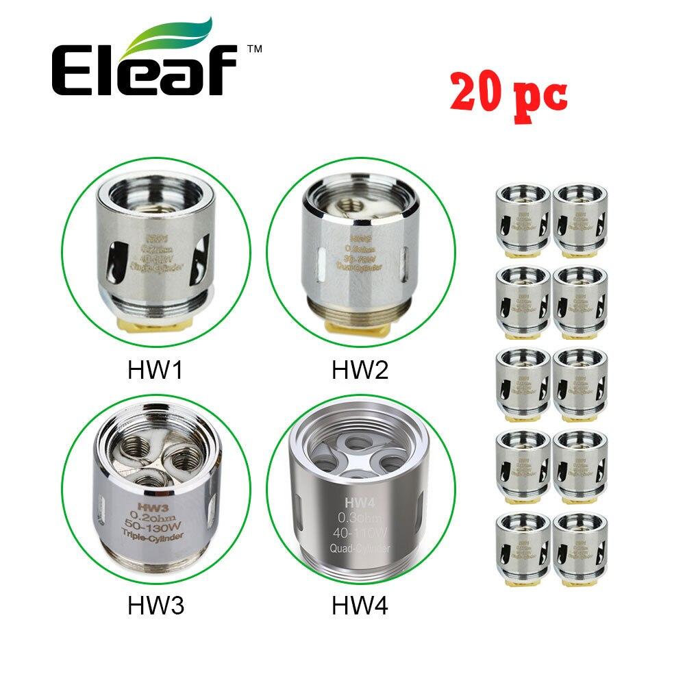 Ello 20 pc Original Eleaf Atomizador Cabeça Bobina HW1 0.2 Ohm/HW2 0.3 Ohm por Ello Mini VS HW3 0.2 Ohm/HW4 0.2 Ohm para Ikonn 220 Kit