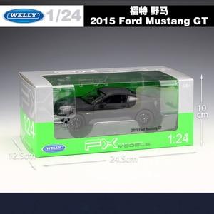 Image 5 - WELLY 1:24 Scale Diecast גבוהה סימולציה דגם צעצוע רכב מתכת פורד מוסטנג GT קלאסי סגסוגת צעצועי רכב לבנים מתנות אוסף