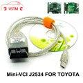 Новейший Диагностический кабель V13.00.022 MINI VCI для диагностического кабеля OBD2, чип FT232RL для компании
