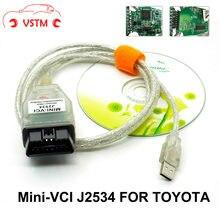 Mais recente v13.00.022 mini relação vci para TOY-OT-A tis techstream MINI-VCI ft232rl chip j2534 obd2 cabo de diagnóstico