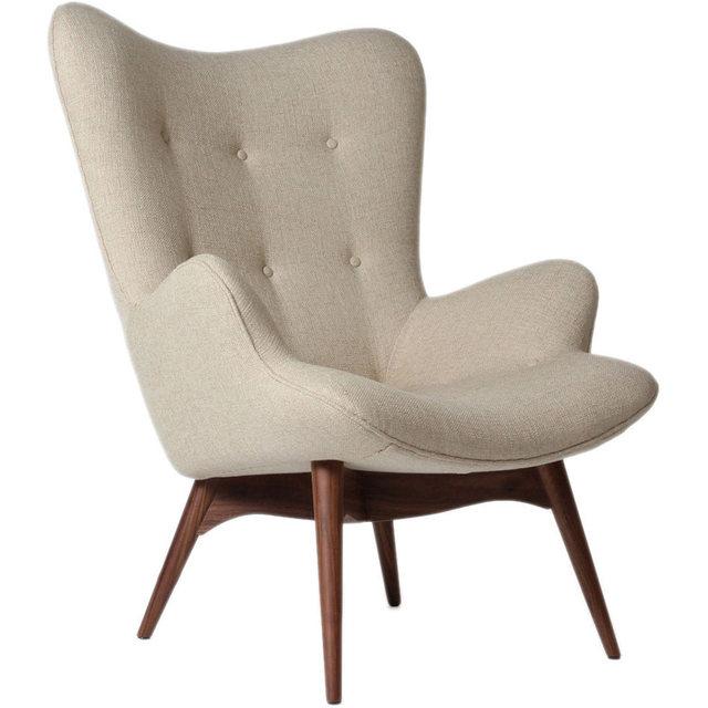 Mitte Des Jahrhunderts Moderne Sessel Stuhl Retro Kontur Stuhl Wohnzimmer  Möbel Gedämpften Stoff Sessel Stoffbezug Akzent Stuhl