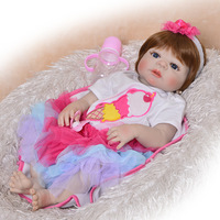 Newborn Doll with Soft Full Silicone Reborn Doll Complete 23 Inches Toy for Kids Our Generation Popular Newborn Doll Lol