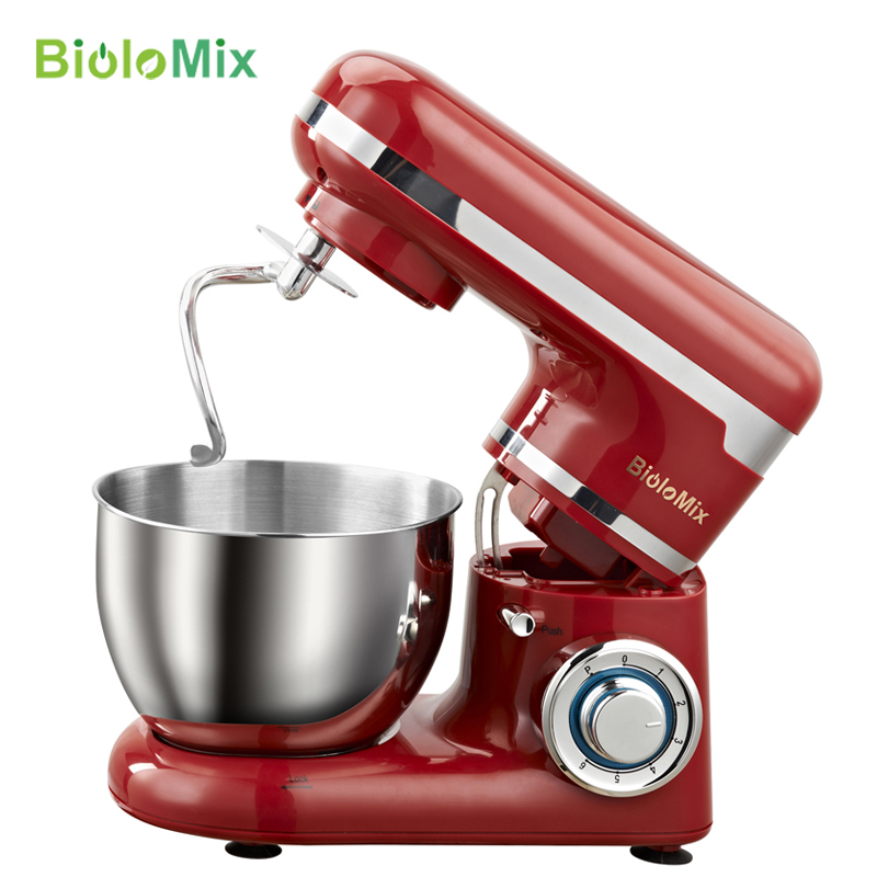 4L Stainless Steel Bowl 1200W 6-speed Household Kitchen Electric Food Stand Mixer Egg Whisk Dough Cream Blender  Appliance mini automatic electric blender egg stirrer baking beat egg blenders cream paste stiring whisk dough kneadin dough mixer