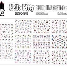 K001-011 для ногтей hello kitty 3d стикер для дизайна ногтей Наклейка для украшения ногтей DIY(11 видов конструкций в 1