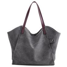 Womens Canvas Shoulder Bag Weekend Shopping Tote Handbag Work