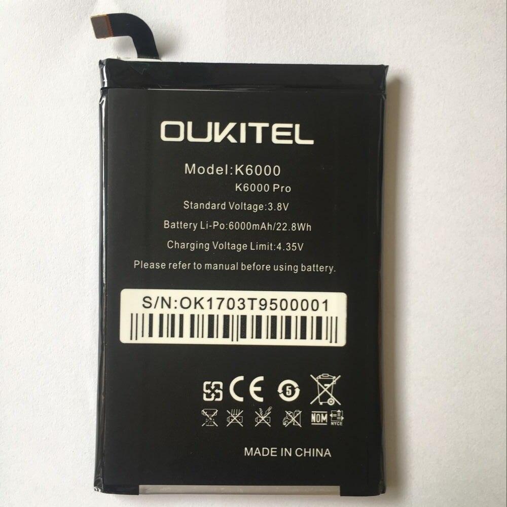 Oukitel K6000 Pro de reemplazo de la batería Original de gran capacidad 6000 mAh a baterías para Oukitel K6000 Pro