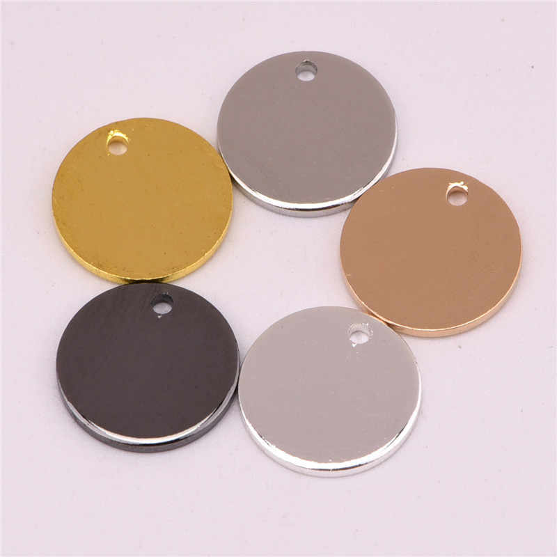 50pcs 8/10/11/20mm copper Blank round crafts Brass Round tag DIY handmade accessories necklace/bracelet charms Pendent Jewelry