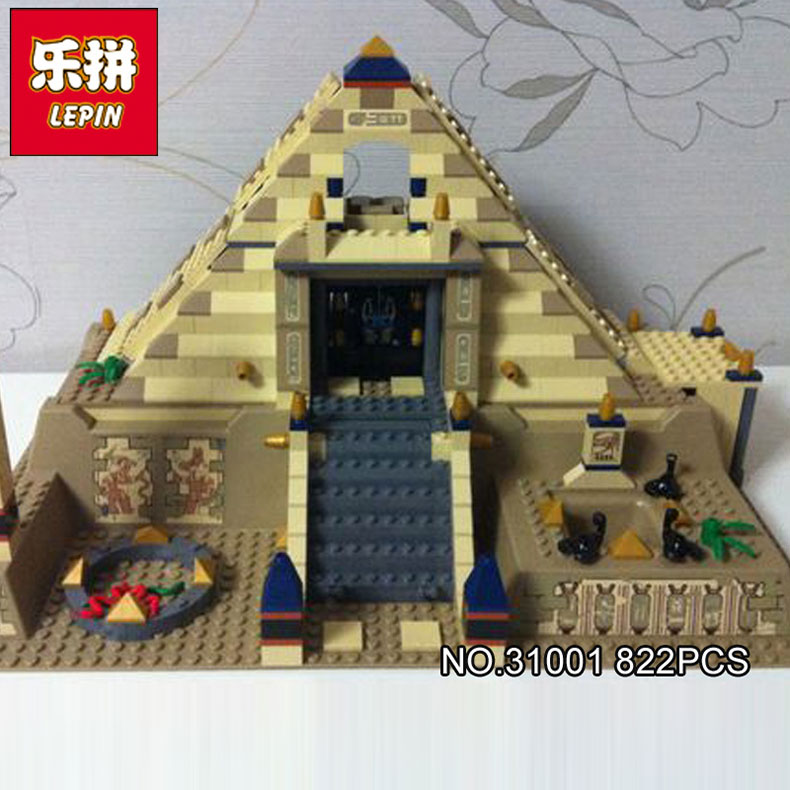 купить Lepin 31001 822Pcs Egypt Pharaoh Series The Scorpion Pyramid Children Educational Building Blocks Bricks Toys Model Gifts 7327 по цене 3080.1 рублей