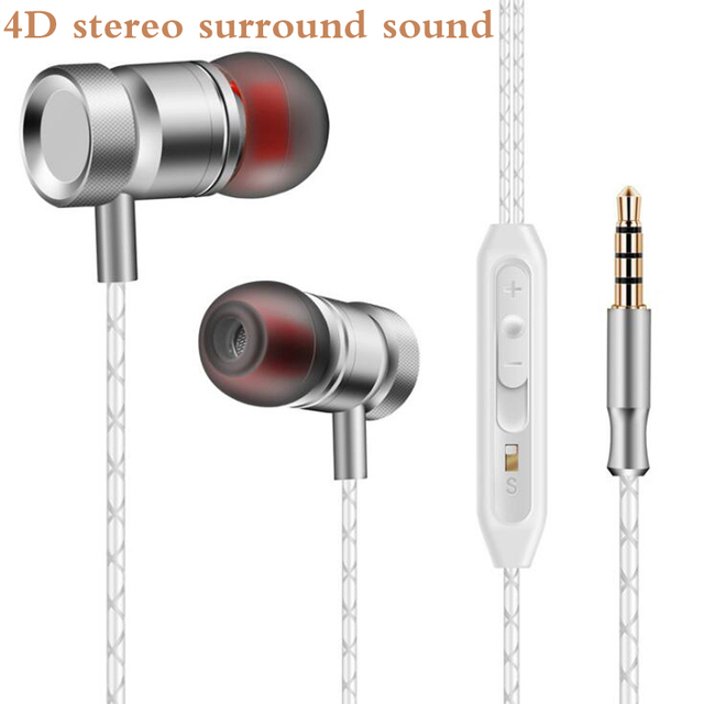 US $4 45 5% OFF|Original JY168 Metal Earphone bass Headset with mic for  iPhone xiaomi mi 6 redmi note 5 pro huawei samsung xiomi sony phone MP3-in
