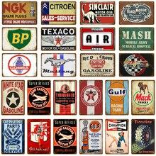 Placa de aceite de Motor clásico, letreros de hojalata Vintage, Bar, Pub, garaje, decoración, gasolinera, placa de metal decorativa, pegatinas de pared, póster artístico