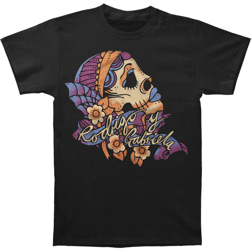 Rodrigo Y Gabriela Mens Girl T-Shirt Black MenS High Quality Printed Tops Hipster Tees T Shirt High Quality