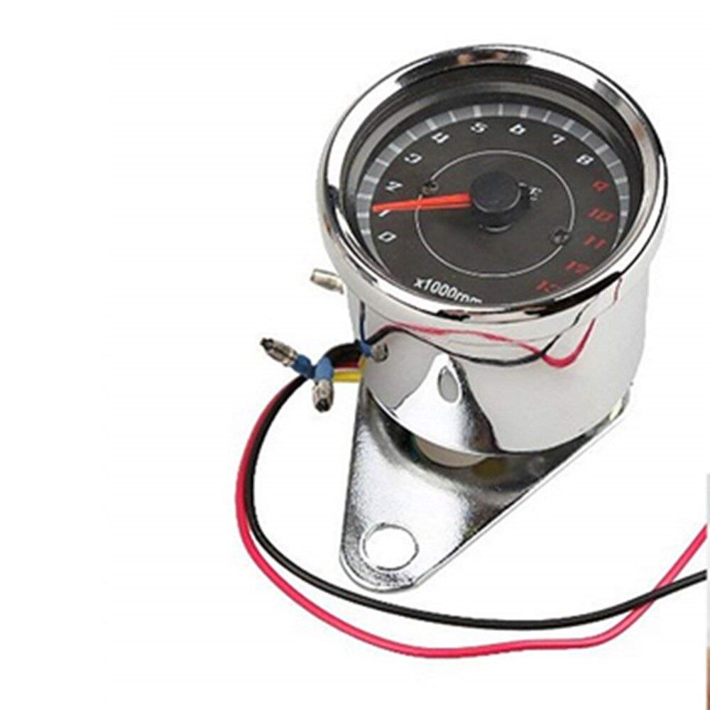 1 pcs LED תאורה אחורית אופנוע Tachometer מד Tachometer מד Rev דלפק 0-13000 סל