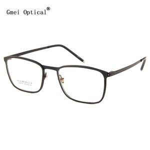 Image 1 - نظارة إطار معدنية ذات حافة كاملة من Gmei طراز LF2016 نظارات للنساء والرجال نظارات