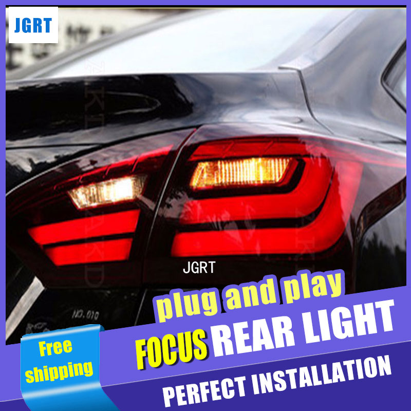 Car Styling for Ford Focus Taillights BMW Design 2012-2014 Focus LED Tail Light Rear Lamp DRL+Brake+Park+Signal car styling led tail lamp for toyota camry taillights 2012 2014 camry rear light drl turn signal brake reverse auto accessories