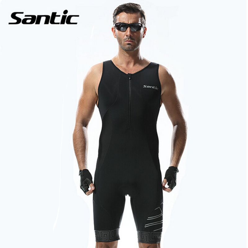 Santic Triathlon Cycling Jersey Men 2018 Pro Team Quick Dry Bike Jersey Cycling Clothing Swimming Running Bicycle Skinsuit Wear santic cycling jersey kit long sleeve warm bicycle bike clothes outdoor sports quick dry seamless thermal underwear skinsuit