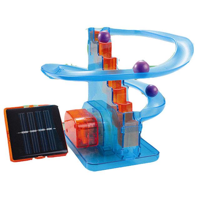 Nuevas Adquisiciones DIY Solar Powered Órbita & Ball Juguetes Enseñanza Kits Divertidos Juguetes Educativos Juguete Para Niños Regalos