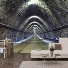 3D extended space space-time tunnel bar background professional production murals, wallpaper wholesale, custom poster photo wall все цены