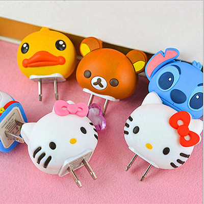Mobile Phone Charger Head Protection Sleeve, Lovely Cartoon Charger Plug Protection Sleeve For Iphone