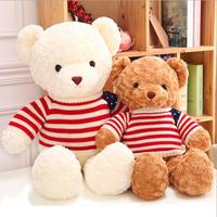 65cm Giant Size teddy bear plush toys with American flag cloth soft plush toy high quality girl gift valentine gift 1PCS