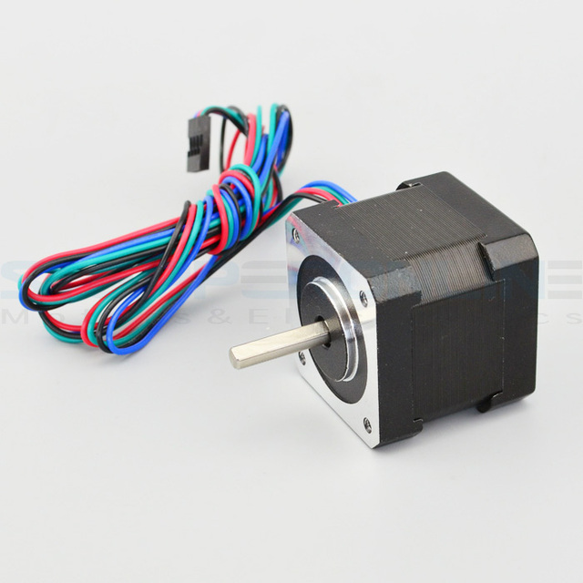 Free Ship ! 5PCS 4 Lead Nema 17 Stepper Motor 42BYGH 40mm 1m Cable 45Ncm (64oz.in) 2A 17hs4401 Step Motor for 3D Printer
