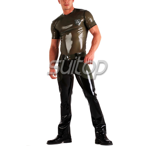 Suitop latex font b jeans b font not including latex top