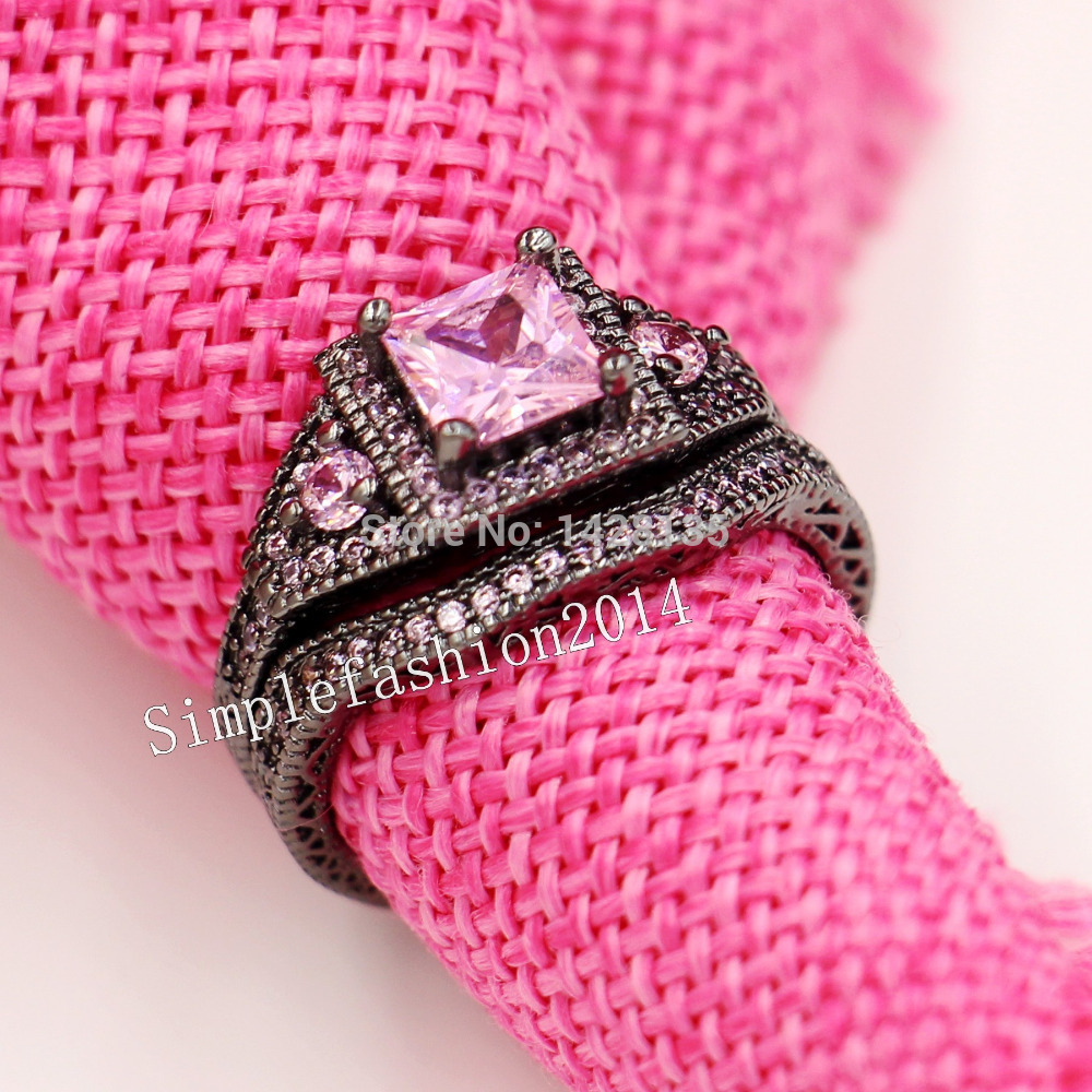 New Jewelry Vintage Jewelry Engagement 10KT Black Gold Filled pink ...