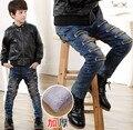 Дети мальчики 2015 зимние толстые брюки случайные джинсы для детей Корейской Моды мальчик брюки
