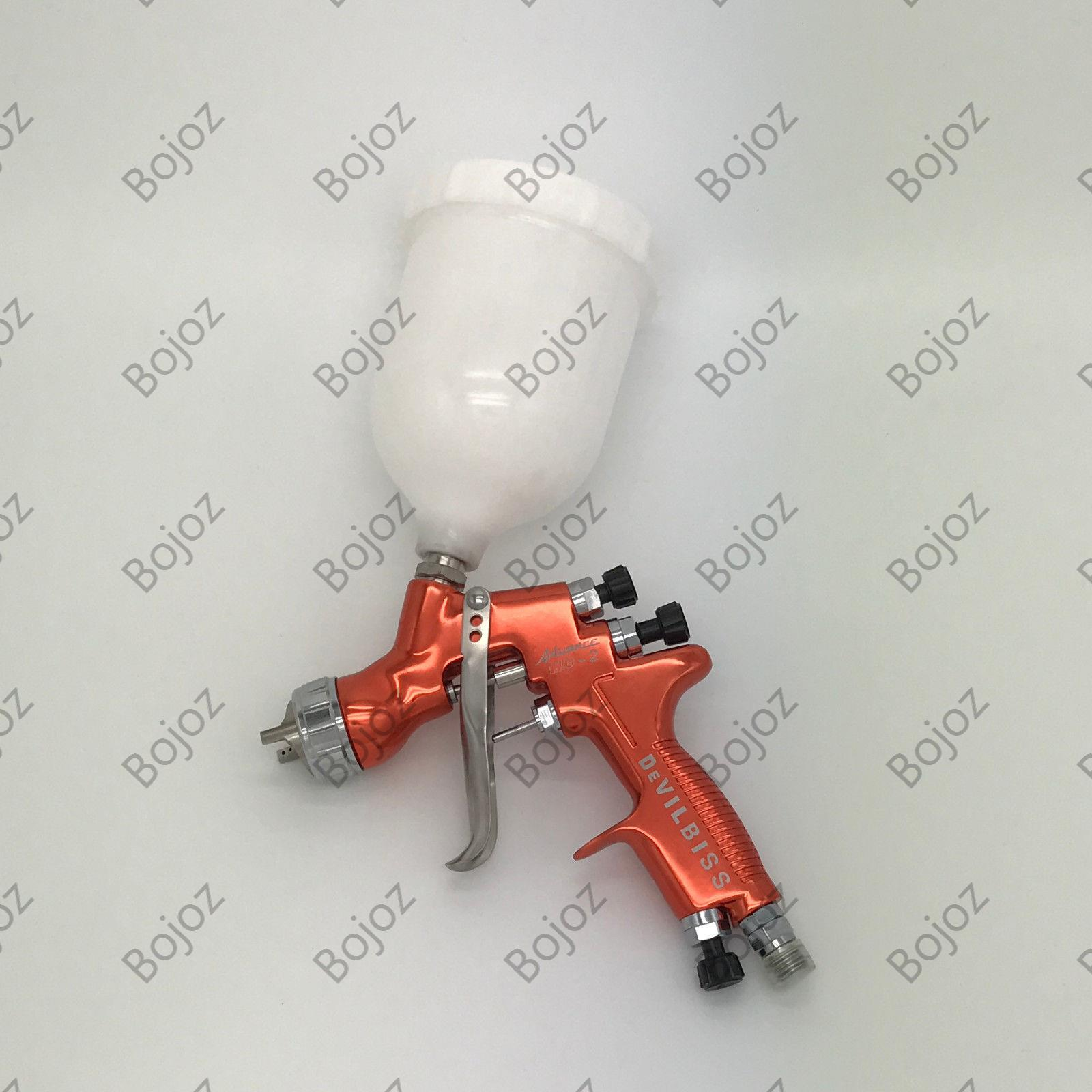 Free shipping Orange color HD-2 HVLP Spray Gun Gravity feed 1.3mm Topcoat Touch-Up Paint Cup for all Auto Paint  W/T 600ml CUP