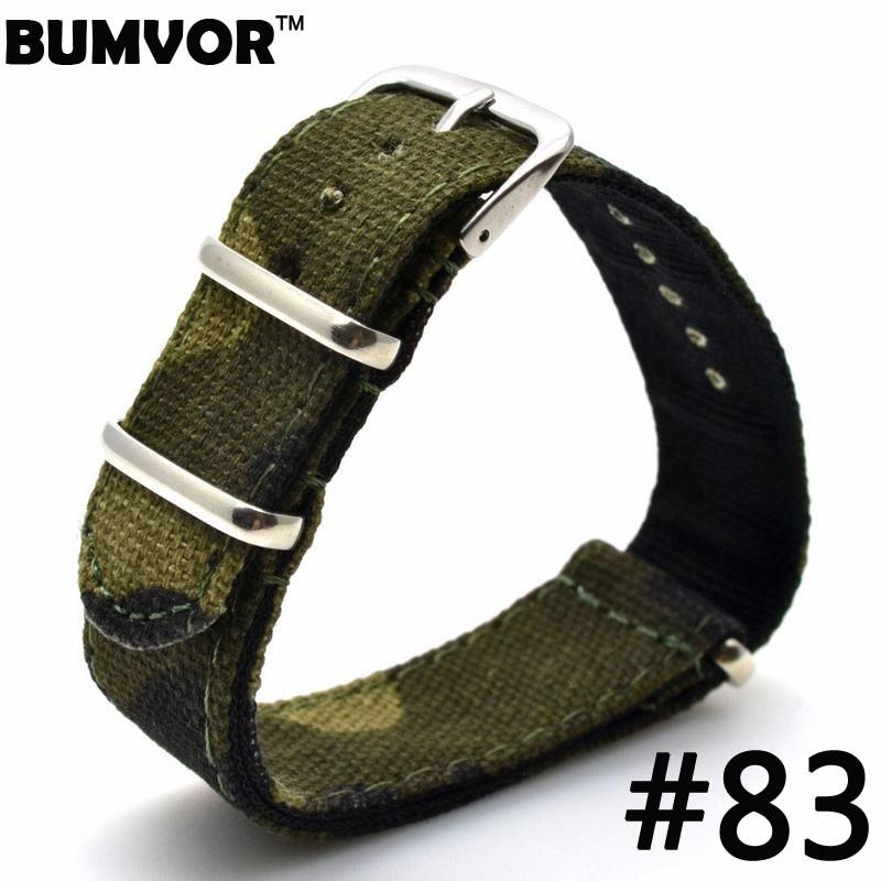 цена  Nato Watchband 20mm High Quality Nylon Watch Strap Multicolor Army Military Band Watch  онлайн в 2017 году