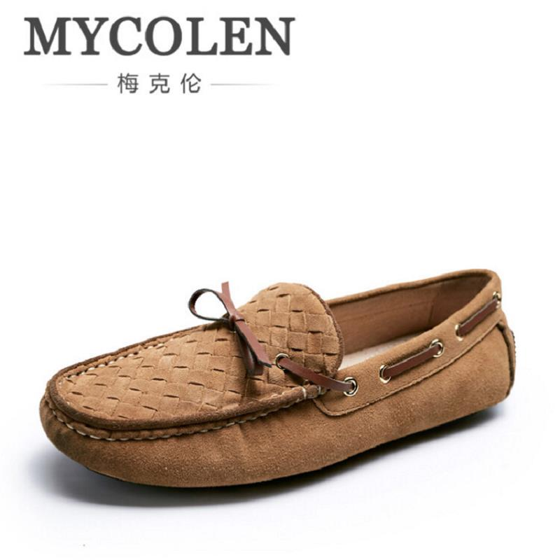 MYCOLEN Soft Leather Men Loafers New Handmade Casual Men Moccasins For Men Simple Leather Flat Shoes Sapatos Homens Brown mycolen new casual shoes spring autumn men loafers 2017 slip on fashion loafer leather moccasins men shoes sapatos homens