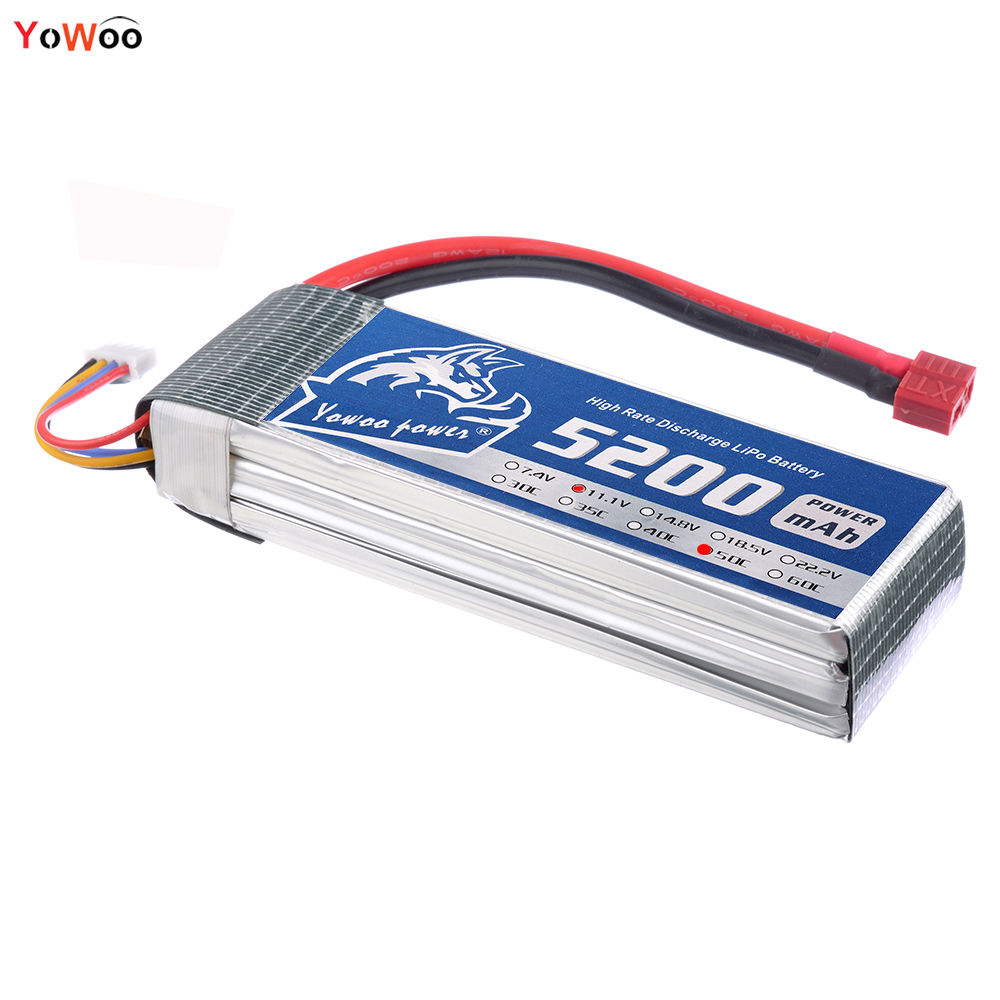 YOWOO Lipo 3s Battery 11.1v 5200mAh 50C Max 100C LiPo RC Battery For jjrc h31 Drone AKKU Helicopter Airplane Car Boat Quadcopter 2018 new arrived lipo battery 2s 7 4v 1200mah 20c max 50c with tamiya connector akku for mini airsoft gun battery rc model