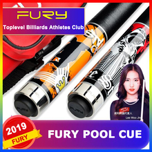 FURY SV 2-Piece Handmade Pool Cue Stick With Case Ergonomic Design Hardwood Canadian Maple Billiard Cue Kit 11.75mm 13mm Tips 2018 fury dn handmade pool cue stick with fury original 4 hole case hardwood north american maple pool billiard cue kit 13mm tip