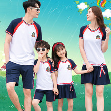 Family Clothing 2020 Mother Daughter Dress Family Matching Outfits Father Son Clothes Set School Uniform T-shirt Short Pants family look clothing 2020 summer mother daughter dress family matching outfits father son t shirt short pants clothes set