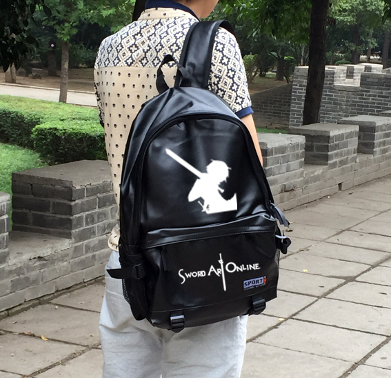 Anime Sword Art Online Cosplay Male and female students bag Korean couples anime leisure PU leather backpack child birthday gift