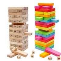50 PZ 2 Stile Blocchi di legno Primi Giocattoli Educativi Regali per il Bambino Bebe Ragazzi Ragazze Bambini Bambini Domino Gioco Numero Giocattolo
