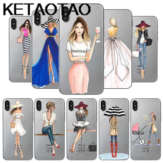 KETAOTAO Fashion Travel Girls Phone Cases for iPhone 4S 5C 5S 6S 7 8 SE Plus XR XS Max Case