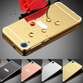 Luxo metal de alumínio moldura de espelho pc back cover caixa do telefone para htc desire um M8 M9 M10 A9 626 816 820 826 830 530 628 828