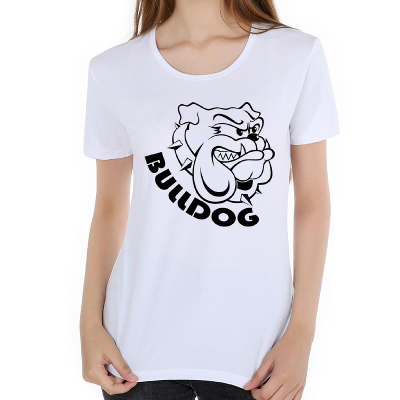 Funny Hand Painted Animal Dog T Shirts Women French Bulldog T-Shirts Short sleeve Camisetas Novelty Tops Holiday gift E3-14