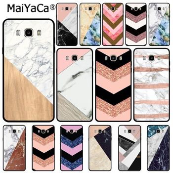 Fashion Geometric Splice Marble gold pink marble stone Phone case for samsung j7 j6 j2pro note 4 note5 note8 note9 s9case coque image