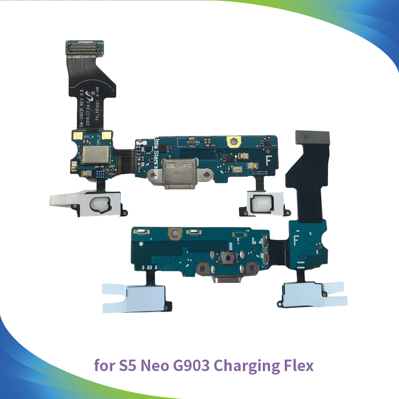 10pcs Usb Charger Charging Port Dock Connector Flex Cable For Samsung Galaxy S5 Neo G903 G903f Keyboard Sensor Ribbon