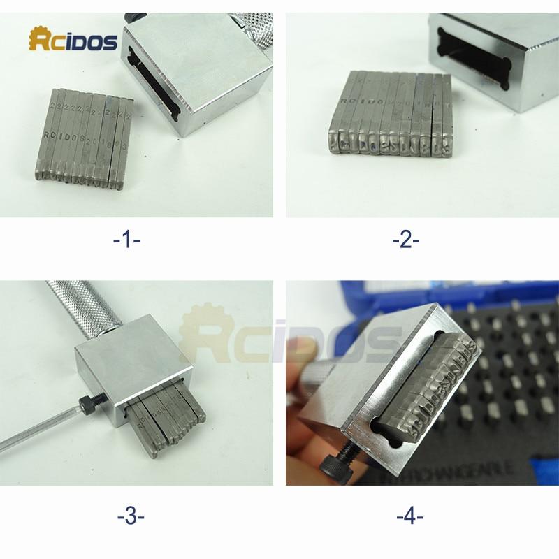 Juego de punzón de sello de acero intercambiable P-112, letras de - Herramientas manuales - foto 4