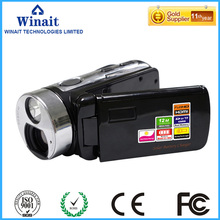 12MP full hd 1080p digital video camera HDV-T99 dual solar charging 16X digital zoom digital video camcorder