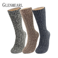 Merino Wool Women/Men Socks Top Grade Brand Hemp Winter Warm Thick Coolmax Compression Hosiery Snow Boot Ladies/Male Socks(China)