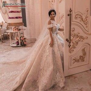 Image 1 - 2019 nuovo abito da sposa con largo della spalla cinghie robe de soiree