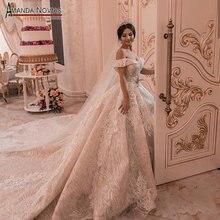 2019 ชุดแต่งงานใหม่กับสายรัดไหล่ robe de soiree