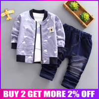52b787c0e BibiCola Spring Autumn Children Boys Clothing Sets Cotton Kid Boys Clothes  Sets 3Pcs Coat Shirt Pants