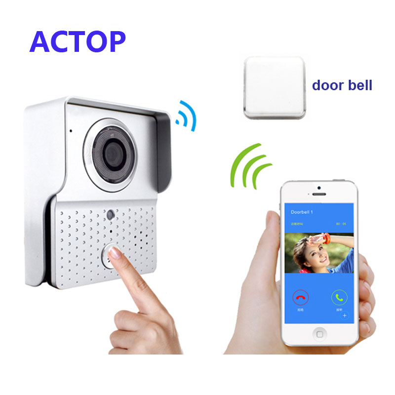 Free Shipping!! WIFI Doorbell/Video Door Phone /IP WI-FI Camera For IOS, Android Smart Phones +wireless door bell camera smart led table lamp desk lamp with wifi ip camera app for android ios phone hd1080p video camera audio recording with 8gb
