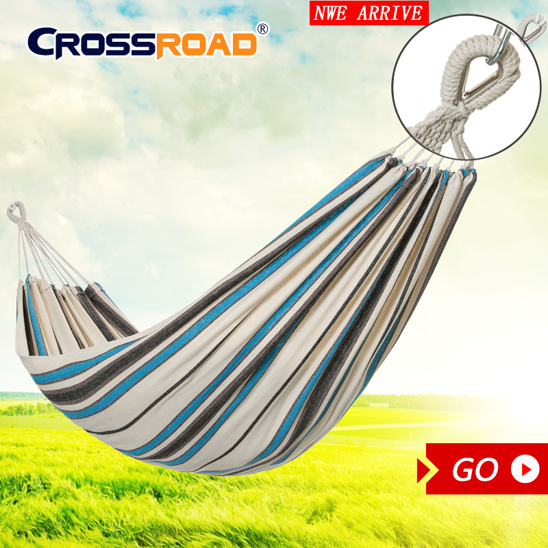 With Professiona Belt 200x150cm  Hammock Canvas  Double Portable Outdoor Furniture  Camping Garden Swing Sleeping Bed Greenhouse