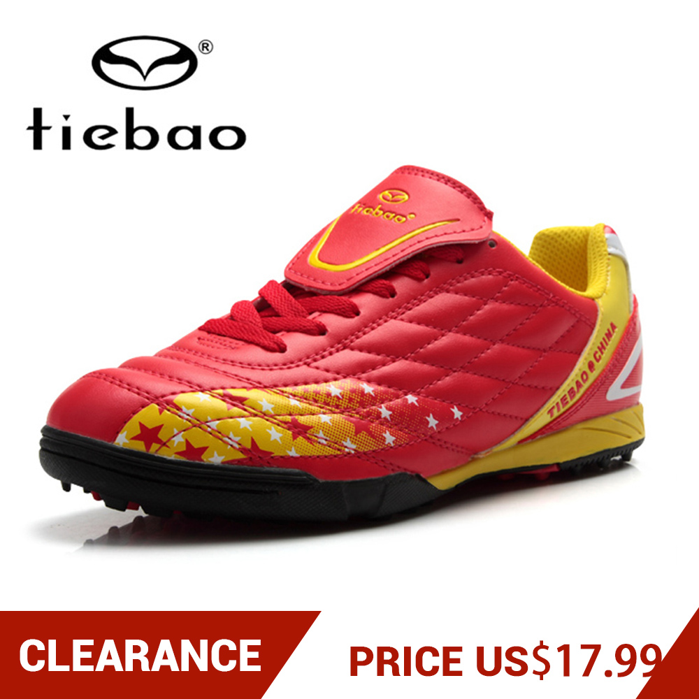 Abstand! Tiebao Schwarz Männer Junge Kinder Fußball Schuhe Stollen Rasen Fußball Schuhe Tf Turnschuhe Trainer Neue Design Fußball Stiefel Schnelle Farbe