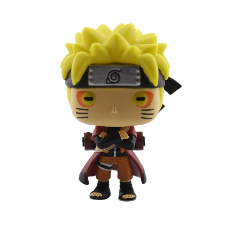 Naruto Uzumaki Immortal Mode Uchiha Sasuke Naruto Fox Cartoon Doll Action Figure PVC Bobble Head Q Edition For Car Decoration